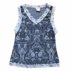Arianne Lace Grey Tank